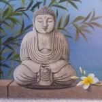 Sculpture Bouddha en pierre