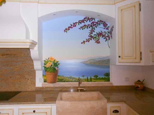 exemple de d coration en trompe l 39 oeil en int rieur. Black Bedroom Furniture Sets. Home Design Ideas