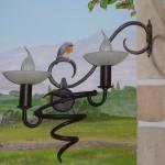 Lampe réelle intégrée au décor