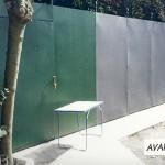 Mur clôture métallique