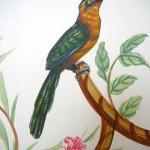 Oiseaux sur portes d'armoire
