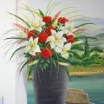 plante_lis_et_rose_rouge