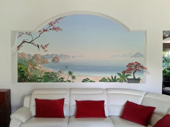 d cors et fresques en trompe l 39 oeil. Black Bedroom Furniture Sets. Home Design Ideas