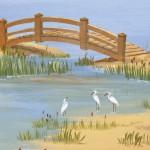 petit pont et hérons