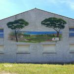 décor peint directement sur le ciment du mur