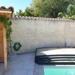 Mur piscine: Avant