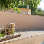 Mur de jardin: avant